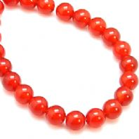 16 Inch Gemstone Red Agate 4mm Round Beads